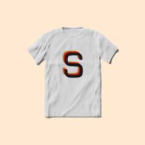 Cool White Solar Strides Logo Tee | Printed Design #1